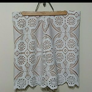 Lace mini skirt from Abercrombie and Fitch